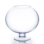 "Clear Stem Bow Vase. Bowl Size: 15""D, 12""H - Stem Size: 8.5"" W, 3.5"" H -  Open: 8"". Height: 16"""