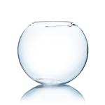 "Clear Round Bubble Bowl Vase. Diameter: 16. Height: 14""."