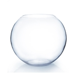 Clear Round Bubble Bowl Vase. Diameter: 19. Height: 16""