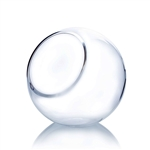 "Clear Slant Bubble Bowl Vase. Open: 4.75""; Height: 8""; Diameter: 8"""