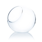 "Clear Slant Bubble Bowl Vase. Open: 6""; Height: 10""; Diameter: 10"""
