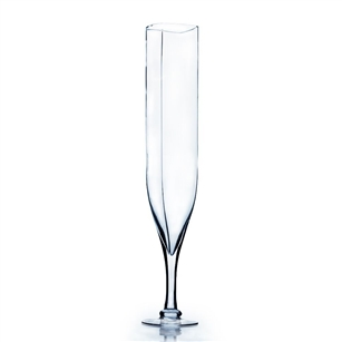 Clear Champagne Vase (Rounded Square Opening).