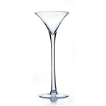 "Martini Glass Vase. Open: 6"". Height: 16""."