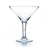 "Martini Glass Vase. Open Diameter: 9"". Height: 10"". Base: 5"""