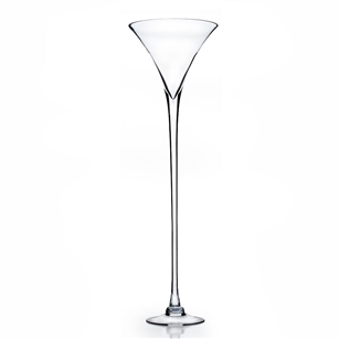 "Martini Glass Vase. WidthxLength: 11?. Height: 40"". Base: 8"""