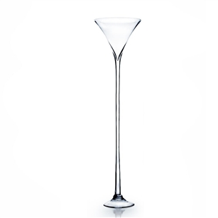 "Martini Glass Vase. WidthxLength: 12"". Height: 47"". Base: 8"""