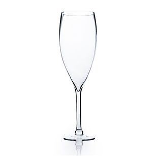 "Clear Wine Vase. Open: 5"". Height: 20"". Base: 5.5""."