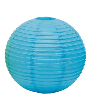 "12"" Paper Lantern (Pack of 24) - Caribbean Blue"