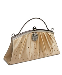 Vintage Style Evening Bag (Gold Satin)