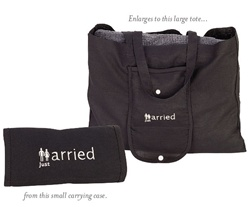 """Just Married"" Tote Bag"