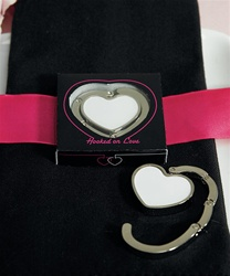 White Heart Shaped Purse Hook