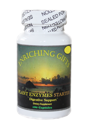 Plant Enzymes - 180 capsules - 150mg - Enriching Gifts
