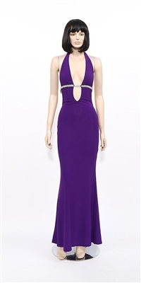 Temptation - Backless stripper halter dress