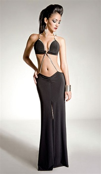 Vanity - Two piece stripper gown by Kamala Collection