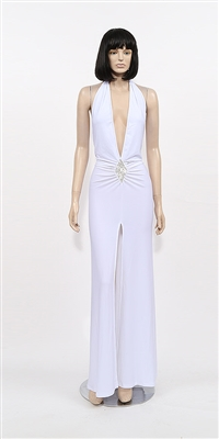 Kamala Collection Sexy Evening Gowns - Diamante halter discount dress