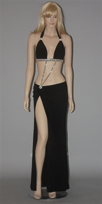 Amber - Exotic dancer two piece dress by Kamala Collection Sexy Evening Gowns