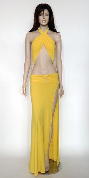 Jordana Yellow sale dress | halter dress KamalaCollection.com