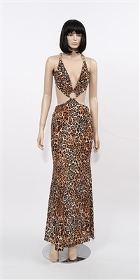 South Beach halter dress by Kamala Collection Sexy Evening Gowns -