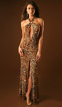 e03fb24f3e ... Elle - Keyhole halter dress by Kamala Collection Sexy Evening Gowns ...