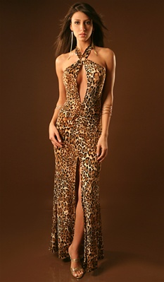 Elle - Keyhole halter dress by Kamala Collection Sexy Evening Gowns