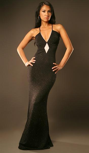 Estelle | Prom Glitter Gown | Elegant Strap glitter halter dress ...