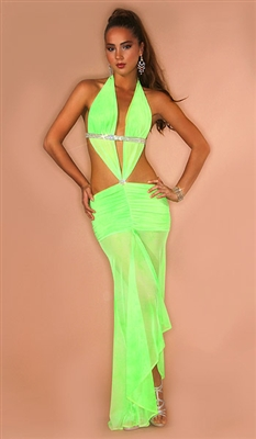 Sheena - Sexy mesh halter dress by Kamala Collection