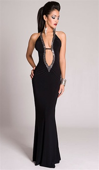 69e973ce554a2 ... Sexy Evening Gowns, Aries - Sequin halter dress by Kamala Collection ...