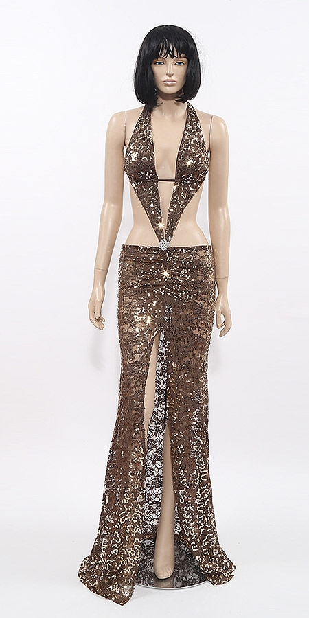 f4e414c2bcd4d Kamala Collection Sexy Evening Gowns - Marissa sequin halter dress