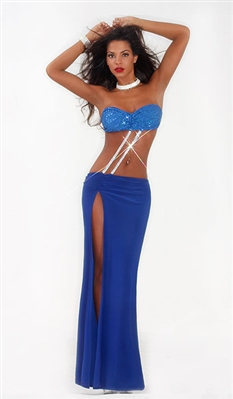 Isabel - Rhinestone two piece dress