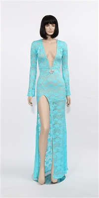 Jade - Long sleeve gown