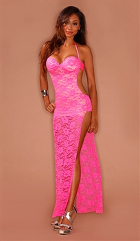 Carmela - Lace column dress