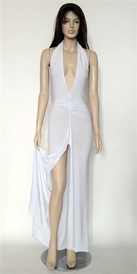 Harlow white halter dress