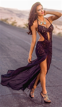 Desiree - Sexy lace and mesh gown