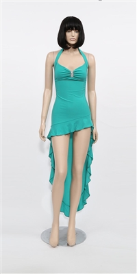 June - High slit lace ruffle dress by Kamala Collection Sexy Evening Gowns