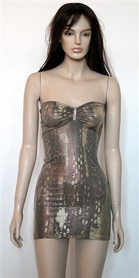 Taylor metallic print tube dress by Kamala Collection Clubwear