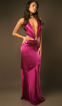 Fallon - Silk dress by Kamala Collection Sexy Evening Gowns