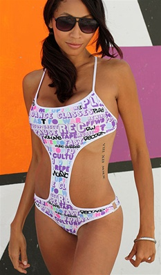 Strap monokini by Kamala Collection Swimwear