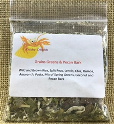 Crabby Delights Grains, Greens & Gladiolus