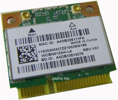 Lenovo 20200437 / WCBN612AH-L6 b/g/n Wireless bluetooth 4 0 PCIe Half  QCWB335