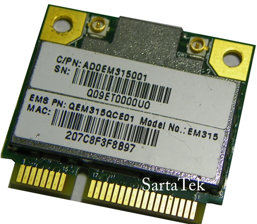 Quanta Microsystems EM315 802 11b/g/n Wireless Half Mini Realtek RTL8188CE