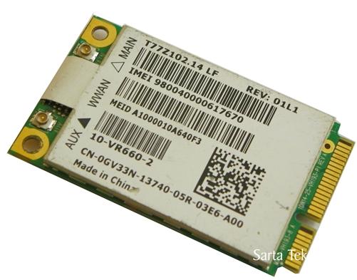 Dell GV33N DW5620 Gobi 2000 WWAN Mobile Broadband PCIE Mini Card