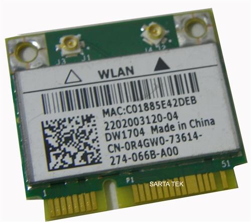 Dell Wireless 1704 Driver for Windows 7
