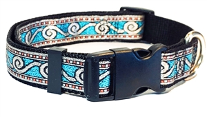custom made dog collars, adjustable dog collar, martingale dog collar, limited slip dog collar, training dog collar, nylon dog collar, unique dog collar