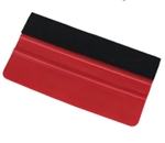 "Felt Edge Squeegee - Red - 6"" (15 cm) - 10 Pack"