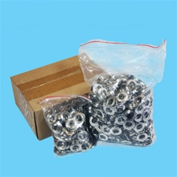 "#2   3/8"" Grommets Self Piercing Nickel (500 Per Bag)"