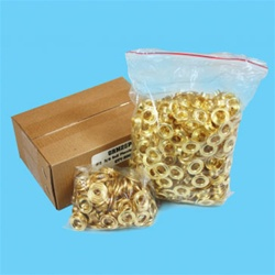 "#0   1/4"" Grommets, Self Piercing Brass (500 Per Bag)"