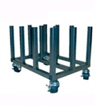 "Mobile Media Rack for 2"" & 3"" Cores, 12 Spindles"