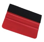 "Felt Edge Squeegee - Red - 4"" (10 cm)- 10 Pack"