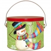 12 piece Scarf Snowman Cookie Pail