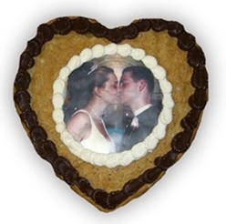 Heart Shaped Cookie Cake Valentines Day Gifts Personalized Photo Cookies